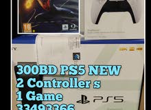 300BD PS5 New+ 2 Controller+1Game /Agent Warranty