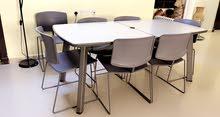 طاولة سفرة خارجية مع 8 كراسي