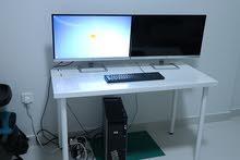 كمبيوتر Z600 Workstation مع شاشتين Hp 27 es