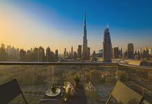 ارض للبيع اطلالة وسط دبي وبرج خليفة plots for sale in Dubai Downtown 2