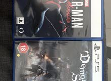 PS5 games Spider man & Demons Souls