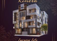 شقة 110م مميزة في كمبوند ريفيرا بالتجمع الخامس تشطيب سوبر لوكس