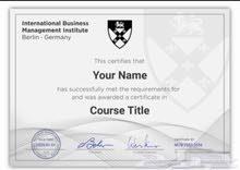 دورات مع شهادة من المعهد العالمي لاداره الاعمال - برلين