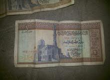 واحد جنيه مصري لعام 1977 بحاله جيده