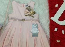ثوب بناتي مع الجنطة