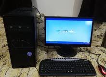 ديل كمبيوتر مع شاشه22بوصه بجميع مشتملاته