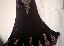 فستان خمري  مخمل تركي شاحط