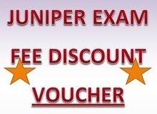 Juniper JNCIA JNCIP JNCIS EXAM fee discount voucher