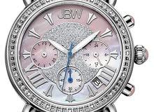 ساعة نسائية مميزة وراقية جدا مرصعة ب 16 فص الماس طبيعي ومطلية ذهب عيار 18