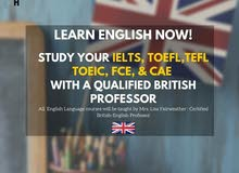 IELTS & Spoken English Classes w (British Teacher)