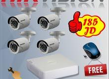 العرض الأقوى  4 كاميرات Hikvision 2 Megapixel شامل التركيب مع كفالة سنة