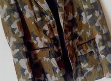جاكيت رسمي جيشي جديد مقاس 44 ب15 جلباب تركي مستعمل كم مرة مقاس50ب55