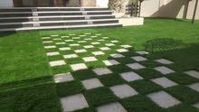 عشب صناعي عالي الجودة '45' ملي شركة المقبالي العصرية