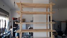 رف احدية من الخشب الطبيعي مقاس 75×20