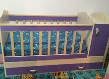 سرير اطفال تركي مش مستعمل هلبا للبيع 250