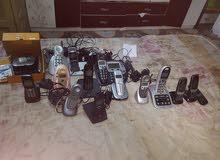 تليفونات لاسلكية عدد 15 مع غراض احتياط واجهزة قيامة كلهن 125 الف بغداد البنوك