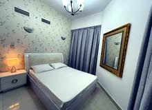 دبي ابراج بحيرات الجميرا JLT  غرفة وصالة مفروشة سوبر لوكس مع بلكونة - ايجار شهري