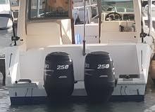 قارب 10 متر سعة 6 اشخاص للصيد والنزهة والسباحة والغطس