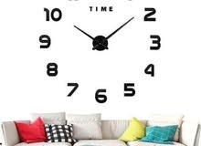 frameless sticker wall clock