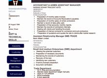 Looking for Accountant and Administrative executive job
