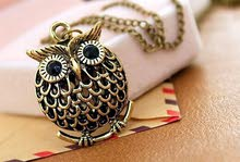Cute Owl Small Pendant Long Chain Necklace