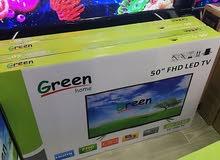 شاشات Green Home حجم 50 بوصة فقط (195) دينار مع حمالة حائط وكفاله سنه