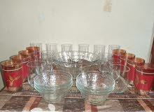 Glass Bowl and Cup Set