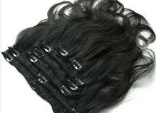 21 وصلة شعر طبيعي 100٪ جودة ممتازة للبيع