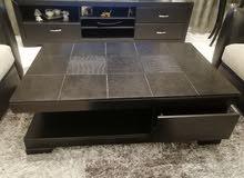 طاولة تلفزيون مع طاولتان لغرفة الجلوس نوعية جيدة ب 200$