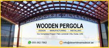 Wall Attached Wooden Pergola Manufacturer in Uae  Wooden Pergola Contractors in Uae.