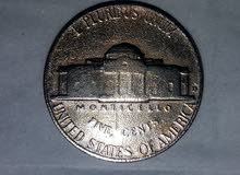 5 cent D nickel jefferson 1964