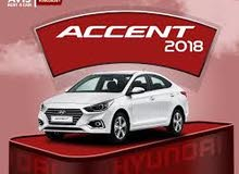 Hyundai Accent 2018 For Rent - White color