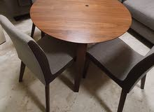 Sold wood Dinning table with 4 chairs