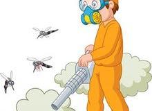 مكافحة حشرات وتنظيف خزانات المياه