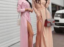 فستان طويل متعدد الالوان