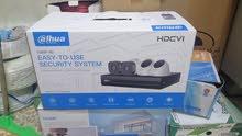 كاميرات المراقبة نوع داهوا اصلي مع هارد 500 مبرمج كامل