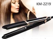 Km-2219 مكواه لفرد الشعر مستقيم او كيرلي - أسود