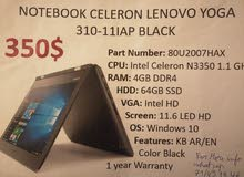 notebook celeron lenovo 310_11 lap black