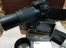 nikon D5500 with 2 lenses