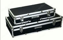 صندوق تخزين ألمنيوم مع قفل