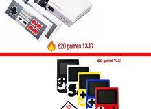 اتاري العاب زمان620 لعبة مختلفة بسعر 13دينار واجهزة gameboy