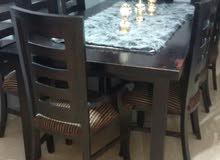 طاولة سفرة لون بني محرووق