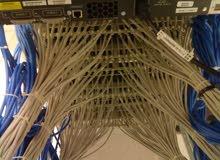 تمديد شبكات سلكي ولاسلكي وصيانة شبكات