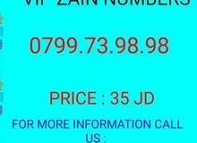 أرقام زين كبلز  0799.73.98.98//0799.73.69.69