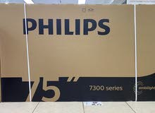 """Philips 75"""" smart 4K uhd ultra hd android tv with ambient light brand new for sell"""