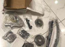 طقم جنازير مكينة سيارة كليزلر وشداد .مقاس المكينة 2.7 قطع وكالة جديدة بالكرتون