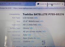 مطلوب شاشة لابتوب توشيبا مستعملة رقم الاصدار p755 شاشة 15.6 انش