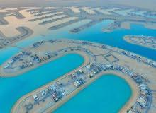 للبيع اراضي في مدينة صباح الاحمد البحرية ( لؤلوة الخيران)  علي البحر مباشرة
