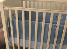 Baby crib and mattress with free bedding set