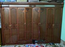 غرفة نوم تركي مستعمل للبيع 8 طلاقه +مرآة